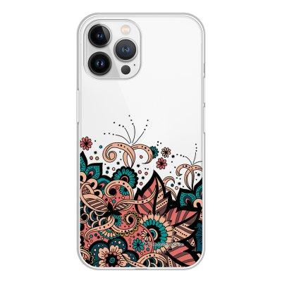 Coque iPhone 13 Pro Max 360 intégrale transparente Cachemire bleu corail Tendance La Coque Francaise.