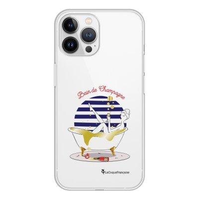 Coque iPhone 13 Pro Max 360 intégrale transparente Bain de champagne Tendance La Coque Francaise.