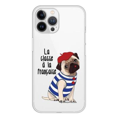 Coque iPhone 13 Pro Max 360 intégrale transparente Chien Marinière Tendance La Coque Francaise.