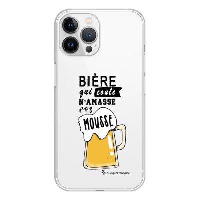 Coque iPhone 13 Pro Max 360 intégrale transparente Bière qui Coule Tendance La Coque Francaise.