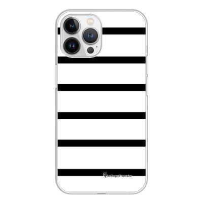 Coque iPhone 13 Pro Max 360 intégrale transparente Marinière Noire Tendance La Coque Francaise.