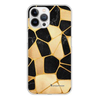 Coque iPhone 13 Pro Max 360 intégrale transparente Or Noir Tendance La Coque Francaise.