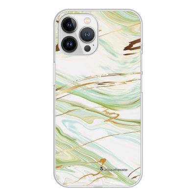 Coque iPhone 13 Pro Max 360 intégrale transparente Marbre Vert Tendance La Coque Francaise.