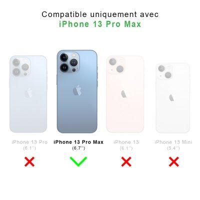 Coque iPhone 13 Pro Max 360 intégrale transparente Marbre noir Tendance La Coque Francaise.