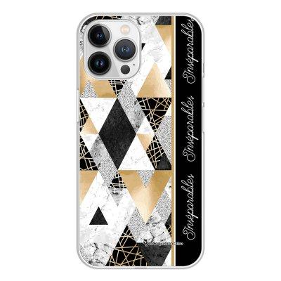 Coque iPhone 13 Pro Max 360 intégrale transparente Marbre Noir Inséparables Tendance La Coque Francaise.