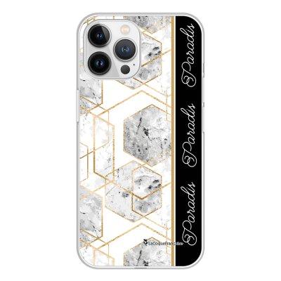 Coque iPhone 13 Pro Max 360 intégrale transparente Marbre Noir Paradis Tendance La Coque Francaise.