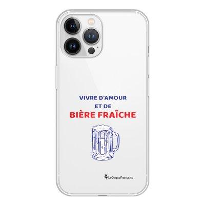 Coque iPhone 13 Pro Max 360 intégrale transparente Vivre amour et Biere Tendance La Coque Francaise.