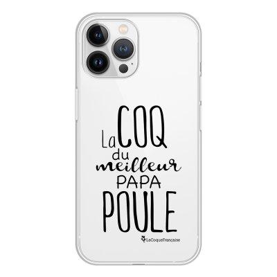 Coque iPhone 13 Pro Max 360 intégrale transparente Meilleur papa poule Tendance La Coque Francaise.