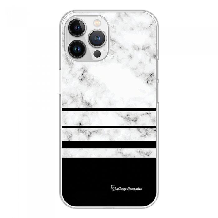 Coque iPhone 13 Pro Max 360 intégrale transparente Trio marbre Blanc Tendance La Coque Francaise.