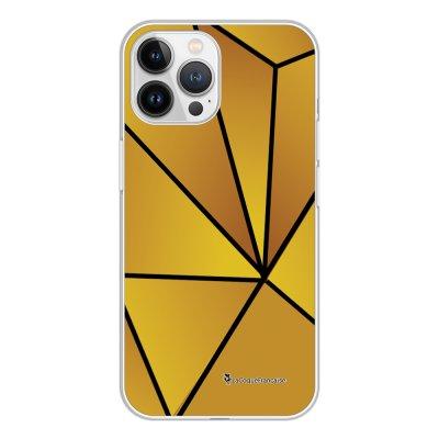 Coque iPhone 13 Pro Max 360 intégrale transparente Jaune géométrique Tendance La Coque Francaise.