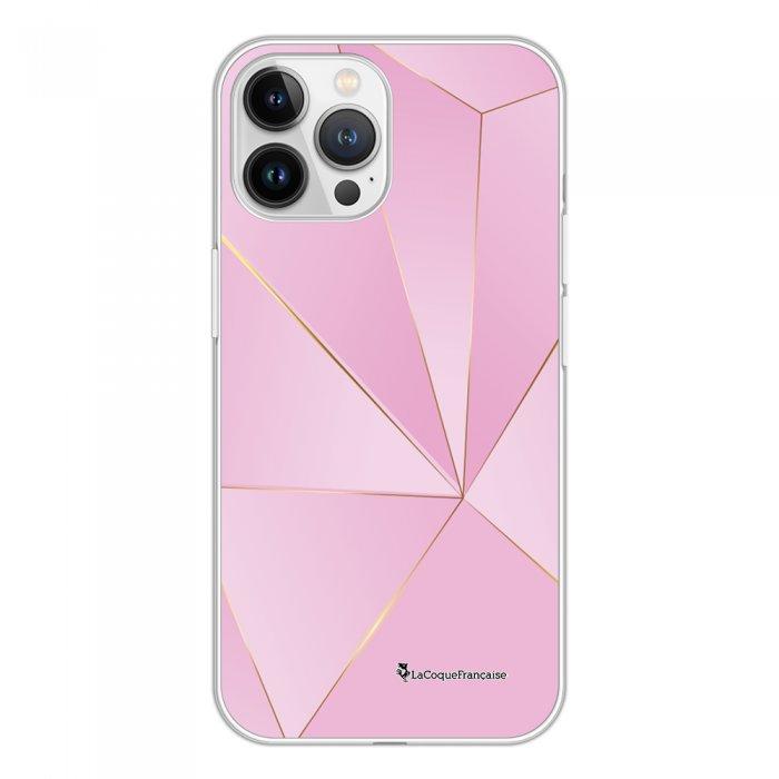 Coque iPhone 13 Pro Max 360 intégrale transparente Rose géométrique Tendance La Coque Francaise.