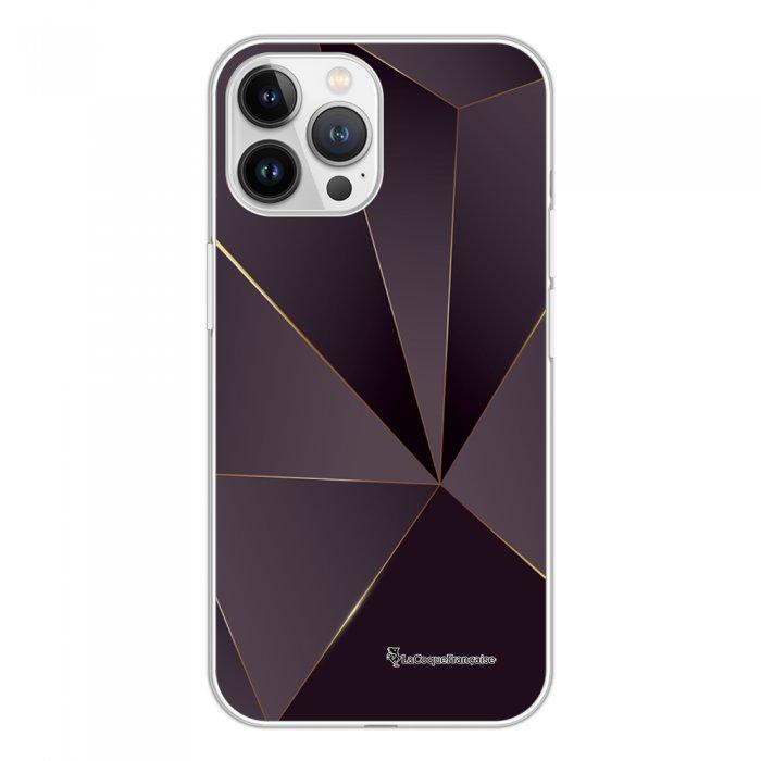 Coque iPhone 13 Pro Max 360 intégrale transparente Violet géométrique Tendance La Coque Francaise.