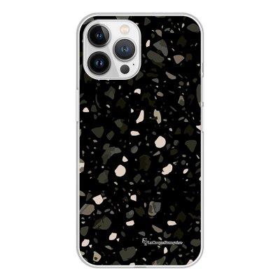 Coque iPhone 13 Pro Max 360 intégrale transparente Terrazzo Noir Tendance La Coque Francaise.