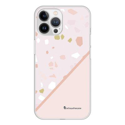 Coque iPhone 13 Pro Max 360 intégrale transparente Duo Terrazzo Rose Tendance La Coque Francaise.