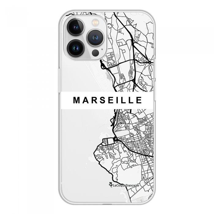 Coque iPhone 13 Pro Max 360 intégrale transparente Carte de Marseille Tendance La Coque Francaise.