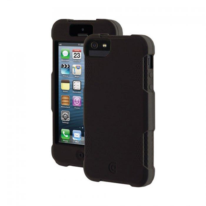 coque noire griffin survivor skin pour iphone 5 5s