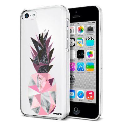 Coque souple transparent Ananas geometrique marbre iPhone 5C