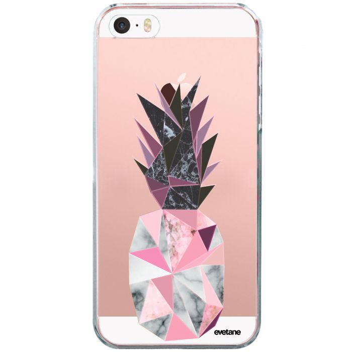 coque souple transparent ananas geometrique marbre iphone 5 5s se