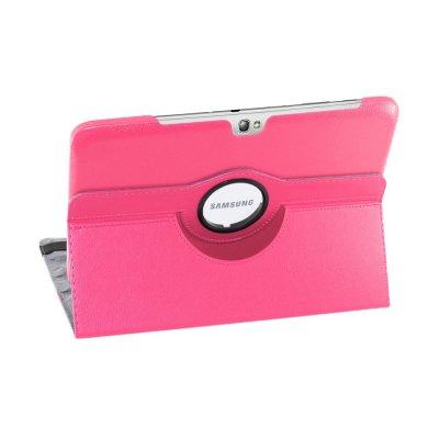 Etui 360 en similicuir rose pour Samasung Galaxy Note 10.1 N8000