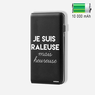 Batterie externe 10 000 mAh Râleuse Mais Heureuse compatible Lightning & Micro USB - Noir
