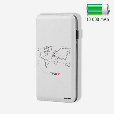 Batterie externe 10 000 mAh Travel compatible Lightning & Micro USB - Blanc