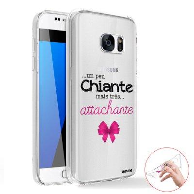 Coque intégrale 360 souple Un peu chiante tres attachante Samsung Galaxy S6