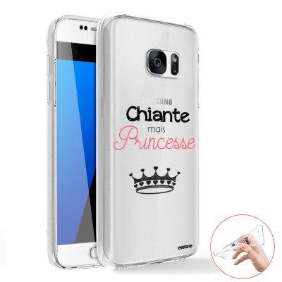Coque intégrale 360 souple Chiante mais princesse Samsung Galaxy S6