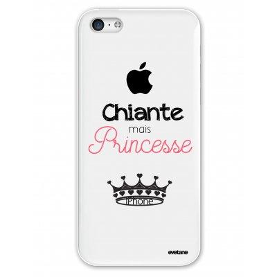 Coque souple transparent Chiante mais princesse iPhone 5C