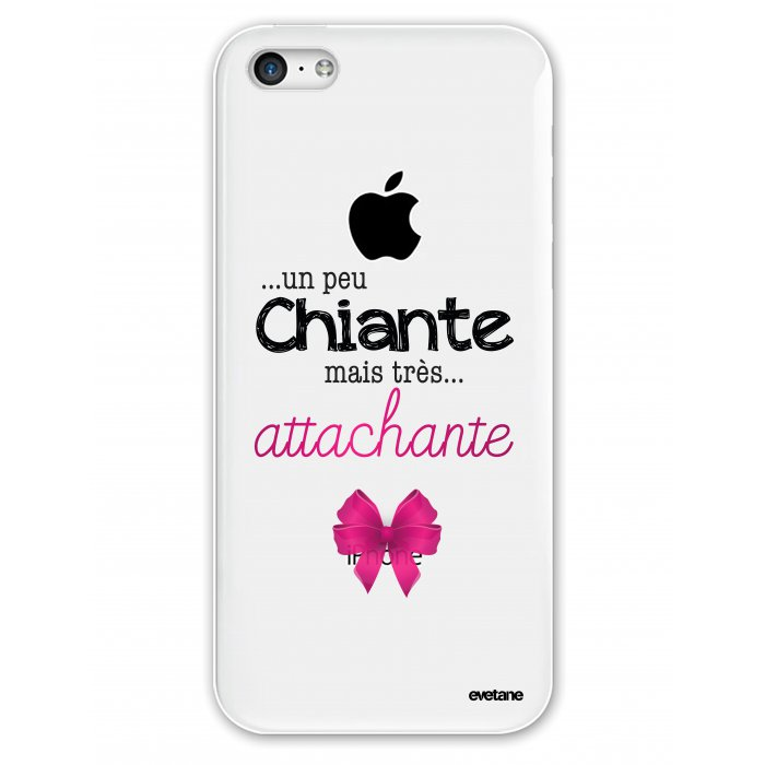 coque rigide transparent un peu chiante tres attachante iphone 5c