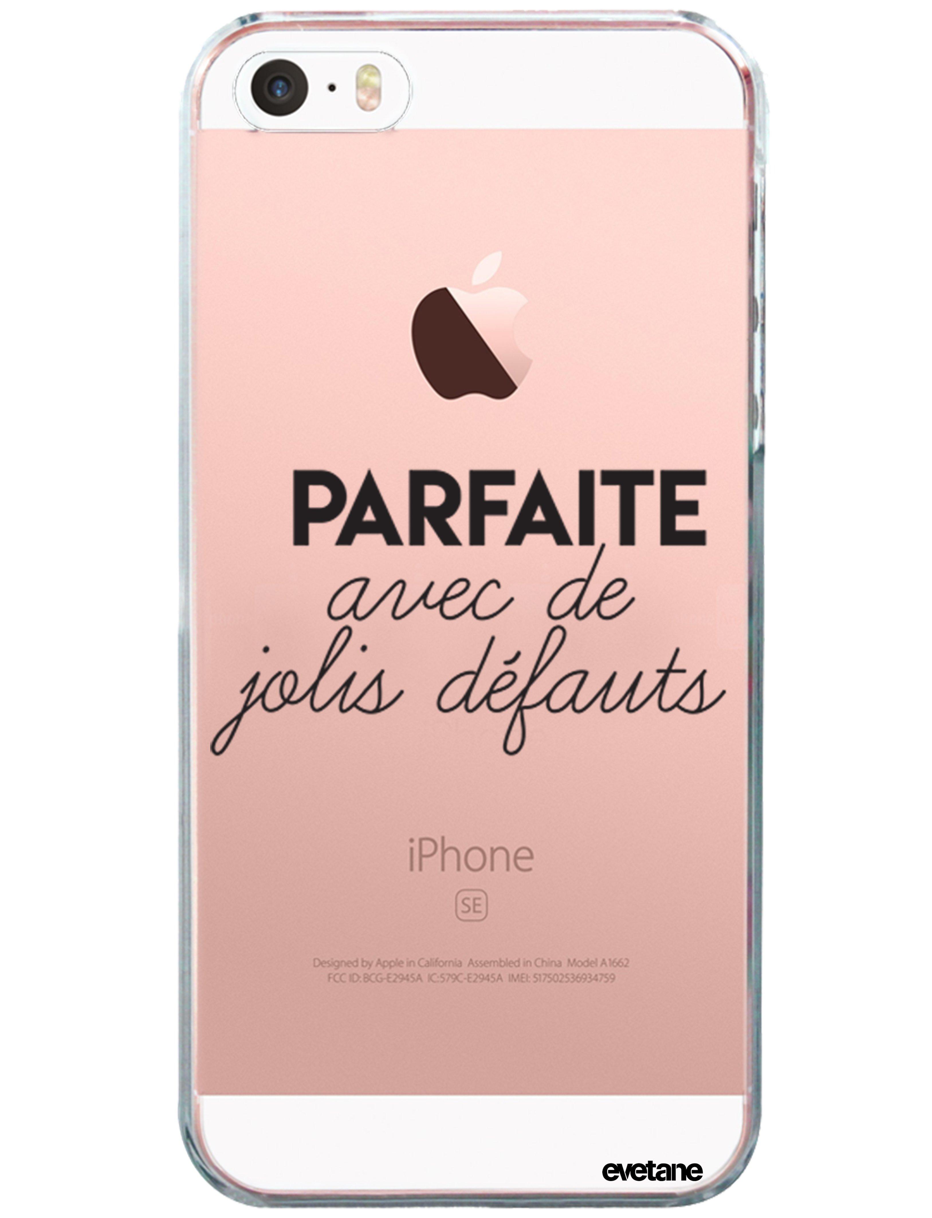 coque souple transparent parfaite avec de jolis defauts iphone 5 5s se