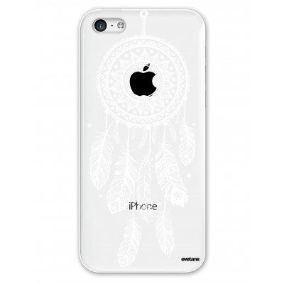 Coque souple transparent Attrape reve blanc iPhone 5C