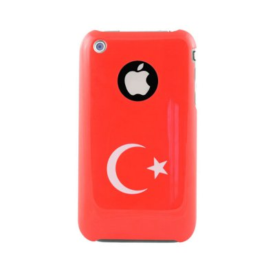 Coque glossy Flag Back Turquie Muvit pour iPhone 3G/3GS