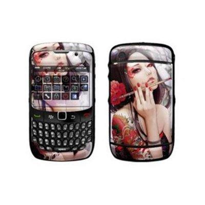 Stickers kit de personnalisation motif femme pinceau pour BlackBerry Curve 8520/3G