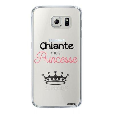 Coque rigide transparent Chiante mais princesse Samsung Galaxy S6