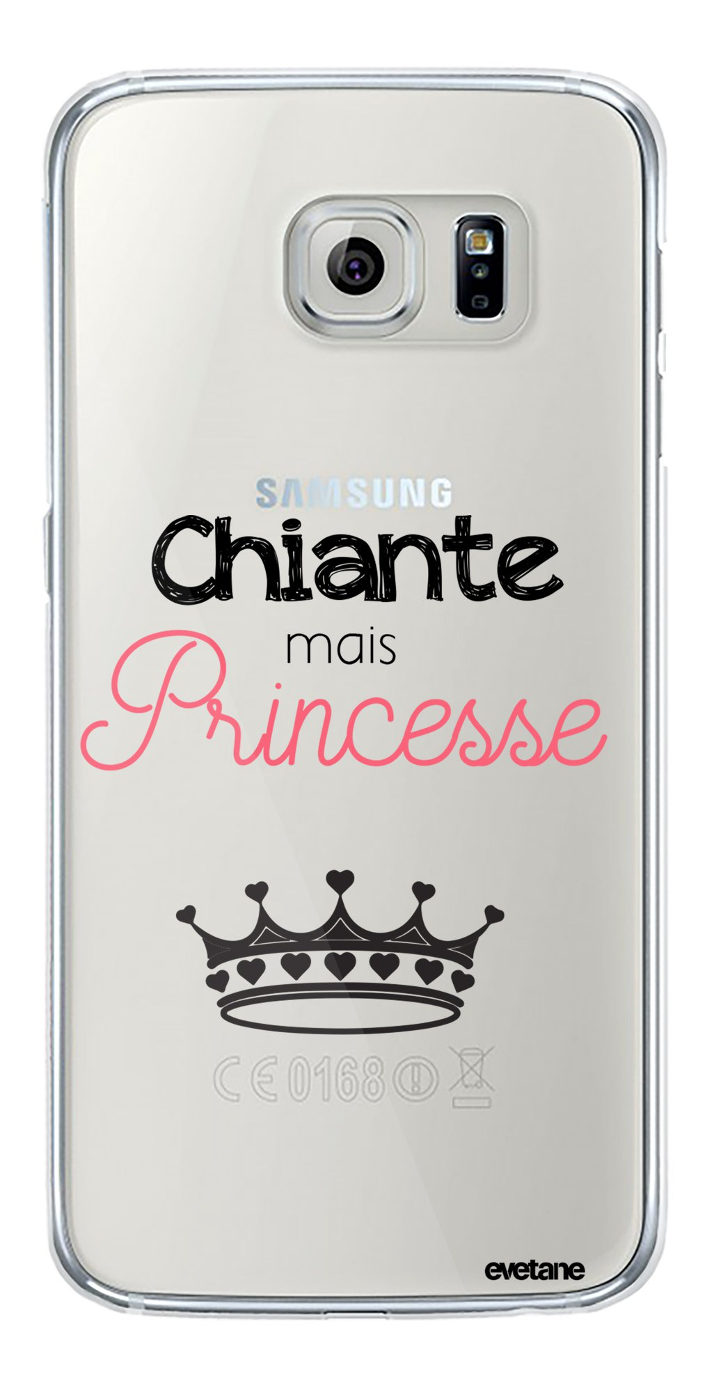 Coque Samsung Galaxy S6 Edge Plus rigide transparente Chiante ...