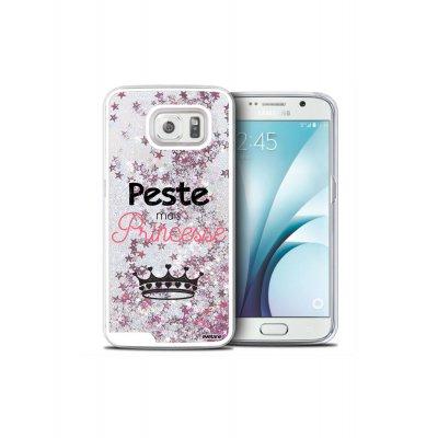 Coque paillettes argent Peste mais Princesse Samsung Galaxy S6