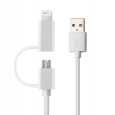 Cable de chargement et de synchronisation 2 en 1 Lightning/ Micro USB