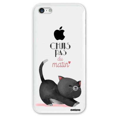 Coque rigide transparent Chuis pas du matin iPhone 5C