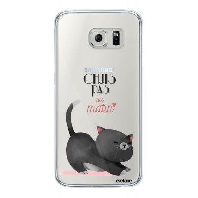 Coque rigide transparent Chuis pas du matin Samsung Galaxy S6