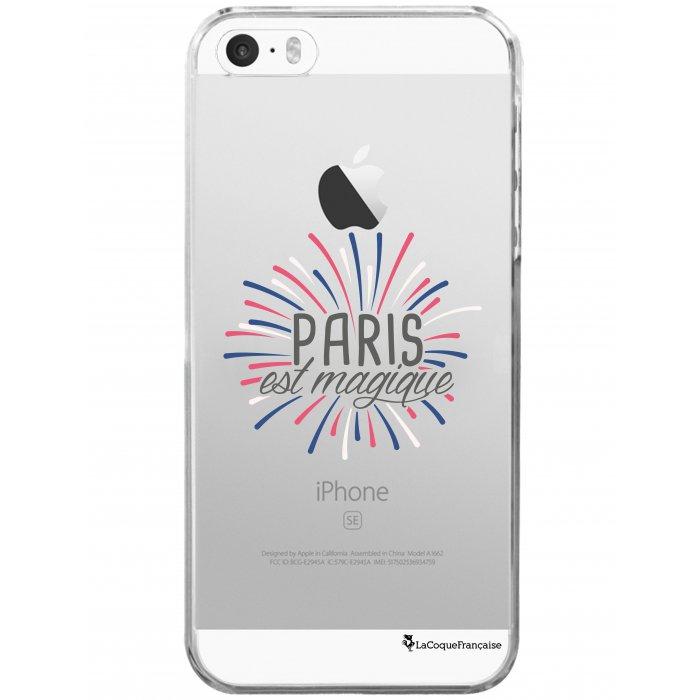 coque rigide transparent paris est magique iphone se 5s 5