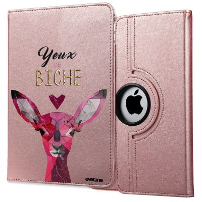 Etui rotatif 360° rose gold Yeux De Biche iPad Air