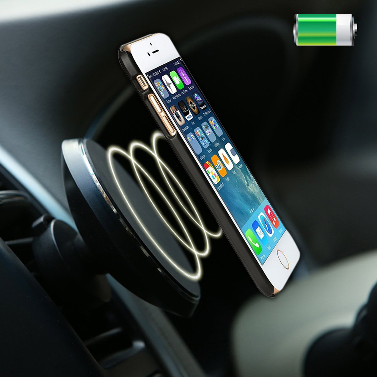 chargeur telephone induction aimante voiture