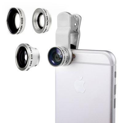 Objectif 3 en 1 fisheye Tablette et smartphones - Argent