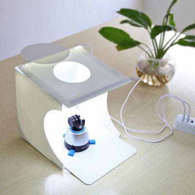 Studio photo portable avec lumière LED