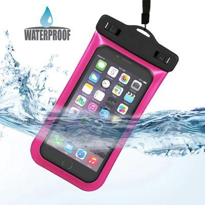 Pochette étanche rose pour Smartphones 5,5