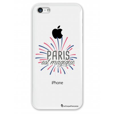 Coque rigide transparent Paris est magique iPhone 5C