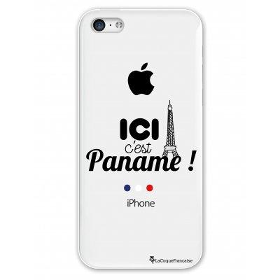 Coque rigide transparent Ici c'est Paname iPhone 5C
