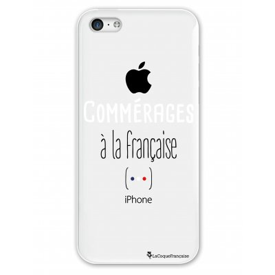 Coque rigide transparent Commérages à la française iPhone 5C