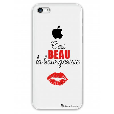 Coque rigide transparent C'est beau la bourgeoisie iPhone 5C
