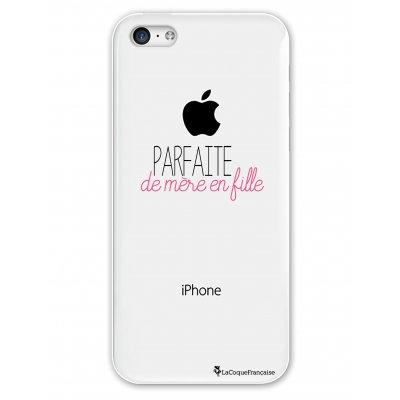 Coque rigide transparent Parfaite de mère en fille iPhone 5C